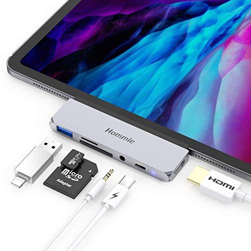 6 En 1 HUB USB C para iPad Pro 2018/2020,Hommie Adaptador