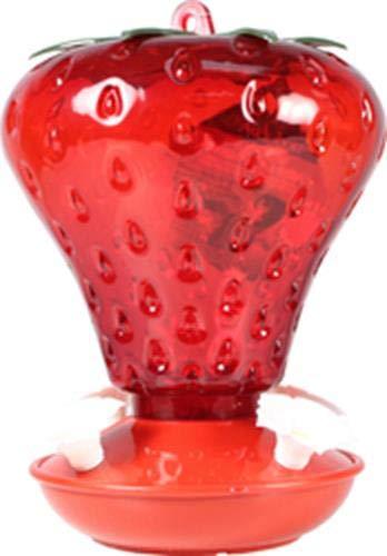 WOODLINK - Hummingbird Feeder, Strawberry Shape, 40-oz.
