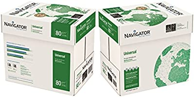 Navigator Universal Carta Premium per ufficio, Formato A4, 80 gr, Confezione da 10 risme da 500 Fogli
