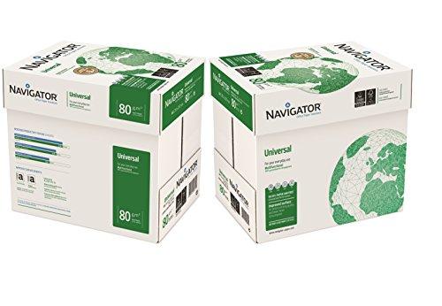 NAVIGATOR NAVA480-2 A4, 80g/m² papel universal 10x Reams (5,000 Sheets) - 2x Box