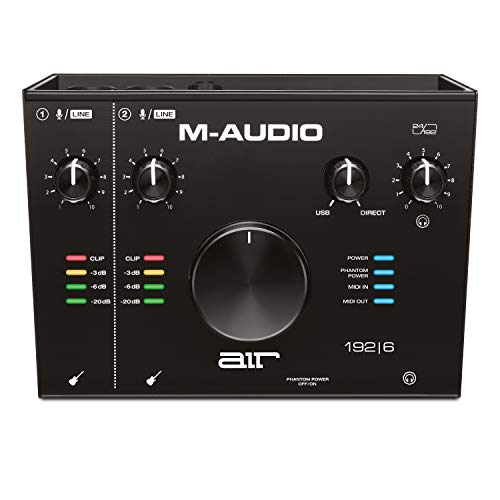 M-Audio AIR 192 | 6 - 2-in-2-out USB Audio- / MIDI-Schnittstelle mit ProTools und Ableton Live Recording Software mit Studio Effekten und Instrumenten