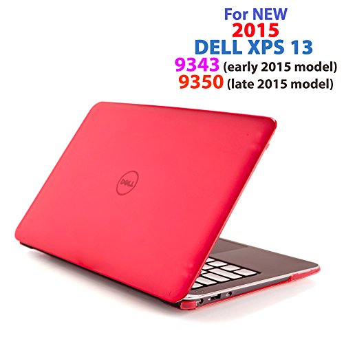 Red iPearl mCover Hard Shell Case for 13.3' Dell XPS 13 9343 / 9350 / 9360 models ( not fitting older L321X / L322X / 9333 and newer 9365 2-in-1 models) Ultrabook laptop - RED