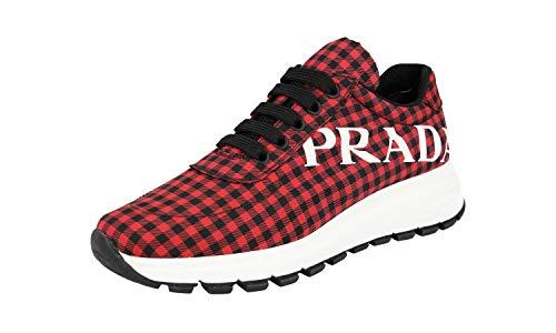 Prada Damen Rot Nylon Sneaker 1E552L 37.5 EU