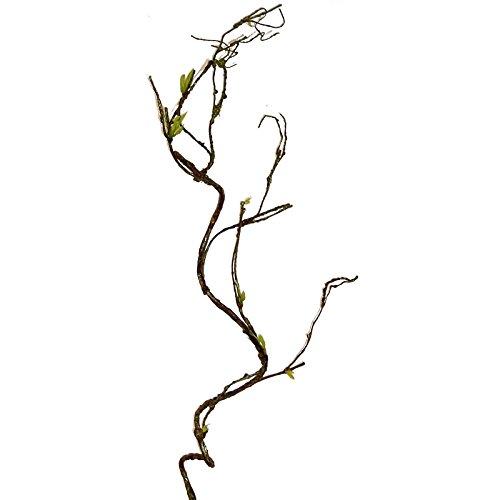 Unbekannt Künstlicher HASELNUSSZWEIG ca 100 cm. Nuss -Zweig mit Trieben