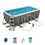 Piscine tubulaire BESTWAY 56722 POWER STEEL 8124 L Dim : 412 x 201 x 122 cm Pack...