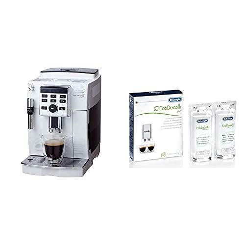 セット買いスタンダードモデルデロンギ(DeLonghi)コンパクト全自動コーヒーメーカー ホワイト マグニフィカS ECAM23120WN & 日本正規品デロンギ(DeLonghi) コーヒーマシン用 除石灰剤 DLSC200 100ml×2本