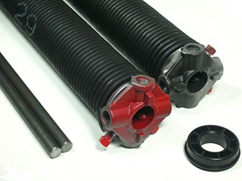 Great Price! Pair .283 x 2 5/8 ID x 43` 1/2 Garage Door Torsion Springs Select Length - Winding Rod...