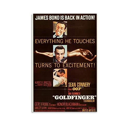 James Bond Movie 007 Goldfinger Poster, dekoratives Gemälde, Leinwand, Wandkunst, Wohnzimmer, Poster, Schlafzimmer, Gemälde, 60 x 90 cm