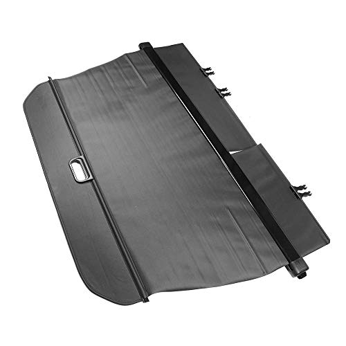 Compatible With 16-19 Honda Pilot Factory Style PVC Cloth Retractable Cargo Cover Black