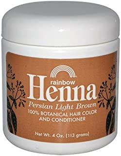 Rainbow Research - Henna Persian Light Brown Hair Color - 4 Oz, 4 pack