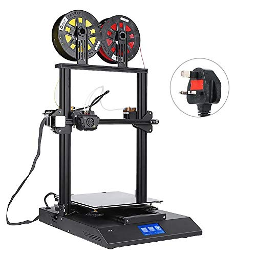Zerone Printer DIY Kit, Dual-color Printing 3D Printer Machine 4.3in Touch Screen Auto Leveling 3D Printer(UK Plug)