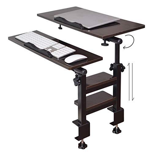 HJCA Klaptafel, eenpersoons, klaptafel, bureau voor laptop, slaapkamer, inklapbaar, met bureau, klein bed, slaapkamer, bureau, hout, kleur 60 x 30 x 40