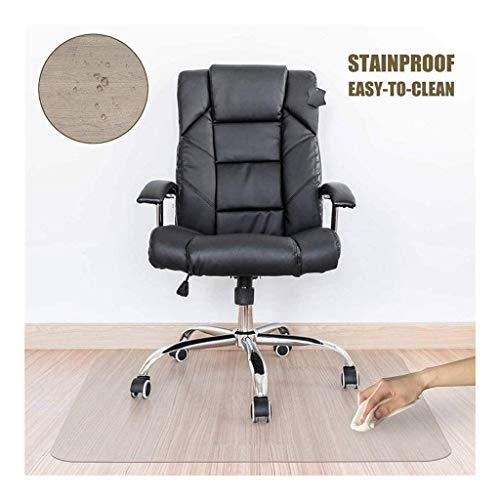 NINGWXQ Bureaustoel Mat, Tapijtbeschermer Anti-olie Makkelijk Schoon Te Maken Duidelijke Tafelkleden Harde Vloermatten, 1,5 Mm Dikte, Aanpasbaar (Color : Clear-1.5mm, Size : 80x80cm)