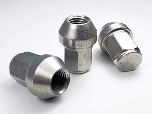 Levando 20 Stück Radmutter M12x1,5 34mm Schaftlänge Kegel 60°SW17 – Radnüsse-Set mit 20x Radnuss geschlossen, Mutter geeignet für Alufelgen & Stahlfelgen (Reifenwechsel), Farbe Silber