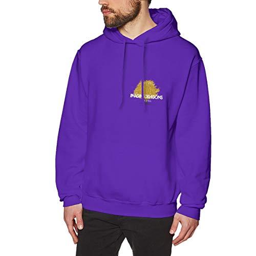 Herren Kapuzenpullover Imagine Dragons Logo Logo Pullover Hoodie Langarm Purple M Sweatshirt Kapuze Für Männer Bekleidung
