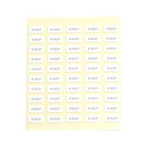 台紙用シール 10×5mm 日本製 アクセサリー台紙用 (k16gp・白, 250枚)