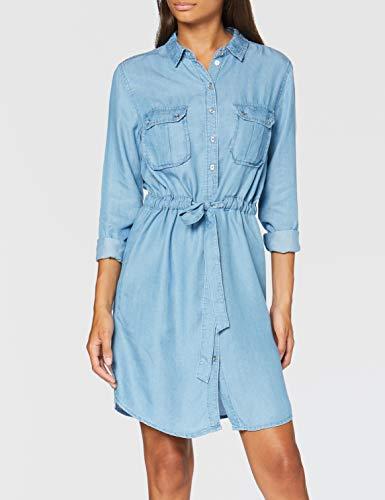 Springfield 5.Frq.Vestido Tencel-C/14 Vestido de Denim, Azul (Medium_Blue 14), 42 (Tamaño del Fabricante: 42) para Mujer