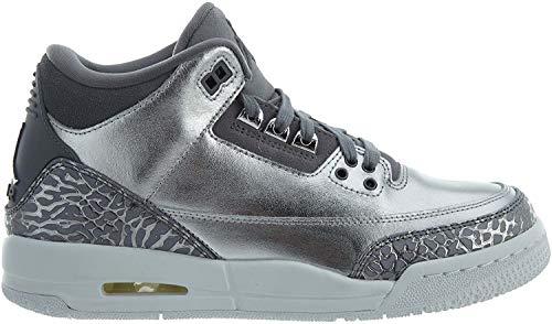 Jordan Damen Nike Air 3 Retro Prem HC Metallic/Silber / Kühlen/Grau Basketball-Schuh 5.5 US 3.5 UK Metallic Silber/Grau