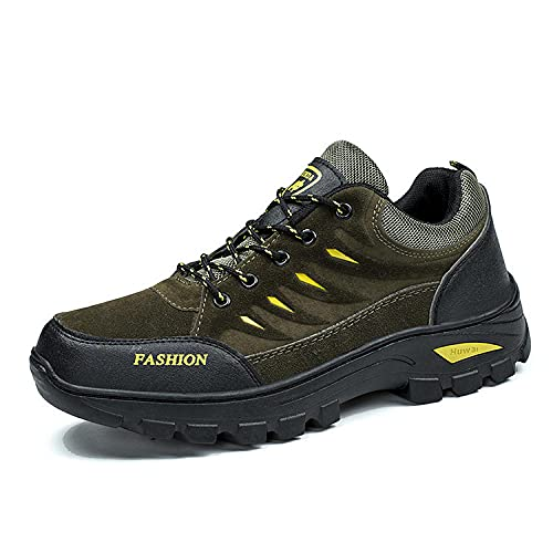 Aerlan Gym Shoes Lightweight Shoes,Zapatos de Senderismo al Aire Libre para Hombres, Zapatos de Senderismo Casuales-Green_44,Botas de montaña Deportivas