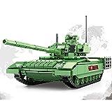 BerighTIo Juegos militares de construcción de tanques – T14 ARMATA bloques de construcción de tanques 1020 piezas modelo tanque juguetes para niños compatibles con LEGO