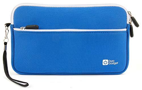 DURAGADGET 7-8 Zoll Etui Blau mit Außenfach Handschlaufe für Tablet Displaydurchmesser 19,05 cm Kinder Lerntablets Grafiktabletts E-Reader
