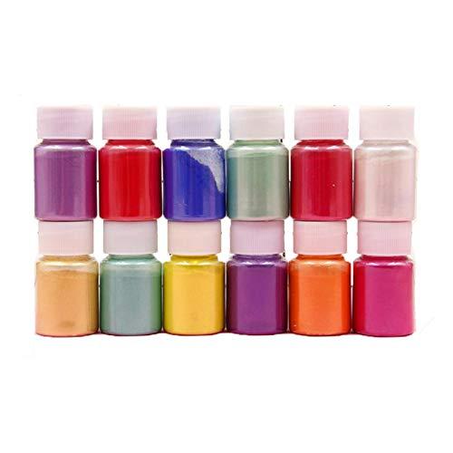 Mica-Pulver, Seifenherstellungspigment, Puderpigment, Seifenfarbe, Epoxidharz-Pigment, Seifenfarbe, 20 Farben für handgefertigte Seife, Make-up, Nnail Rouge, Lidschatten, Lippenstift
