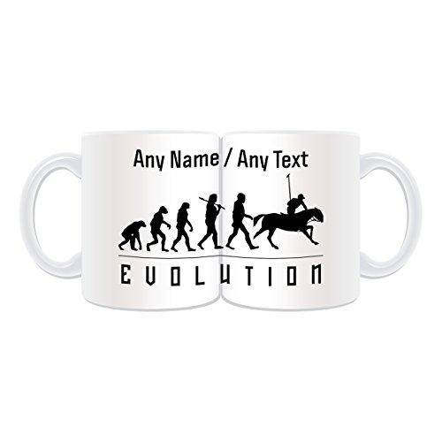 UNIGIFT gepersonaliseerd cadeau - Polo mok (volutie verpakt ontwerp wit) elke naam bericht op unieke - Team Player Outline Olympisch spel Sport Paard Doel