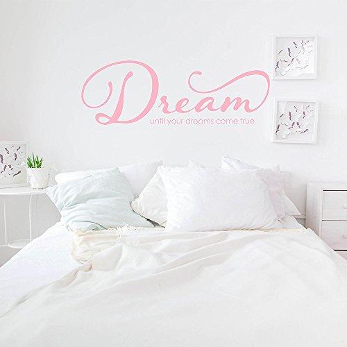 Dream - Tot je dromen komen waar citaat muur citaten - droom muursticker tot je dromen komen waar Vinyl letters #831Q gemakkelijk aan te brengen en verwijderbaar