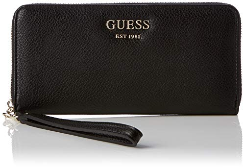 Guess Damen Vikky SLG Large Zip Around Geldbeutel, Schwarz (Nero), 21x10x2 Centimeters