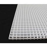 Eggcrate Panel, Plastic, White, PK2