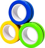 Sunny Days Entertainment Magnetic Rings Fidget Toy - Stress Relief Spinner Ring Toy (Colors May Vary)