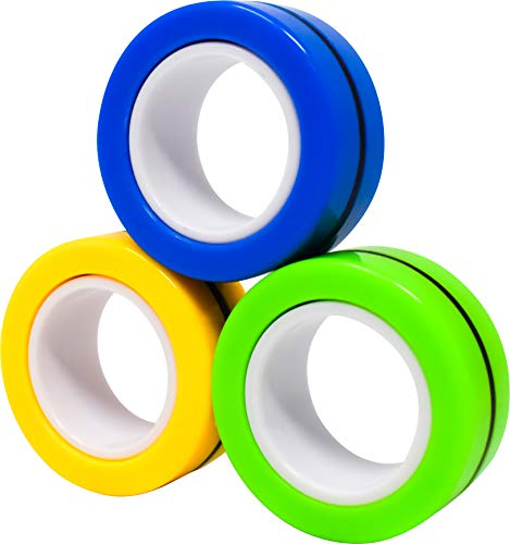 Sunny-Days-Entertainment-Magnetic-Rings-Fidget-Toy-Stress-Relief-Spinner-Ring-Toy-Colors-May-Vary