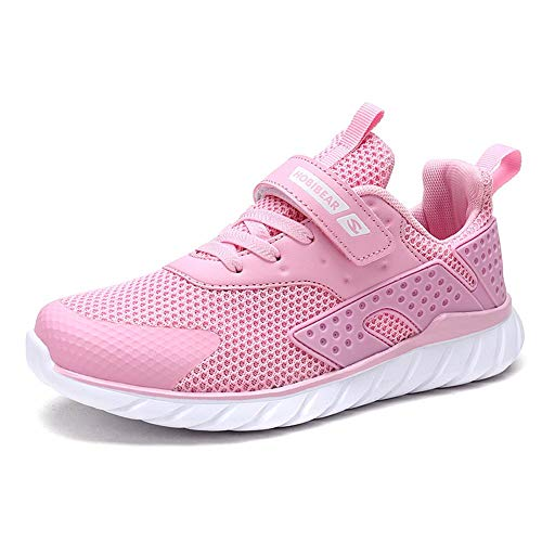 populalar Turnschuhe Kinder Sneaker Jungen Sportschuhe Mädchen Hallenschuhe Outdoor Laufschuhe Für Unisex-Kinder, Rosa, 33 EU (Herstellergröße: 34)