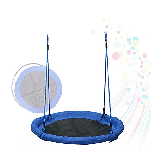 KJGLXD Outdoor Swing Toys for Children Indoor Swing Rope Seat Molded for Kids Adults 100CM Flying Saucer Tree Swing Set Great for Tree, Swing Set, Backyard, Playground, Playroom