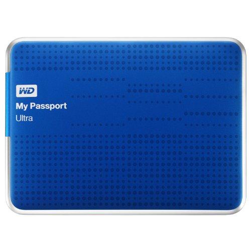 WD My Passport Ultra - Disco portátil ultracompacto de 1 TB, USB 3.0 (con Copia de Seguridad automática y en la Nube) Azul