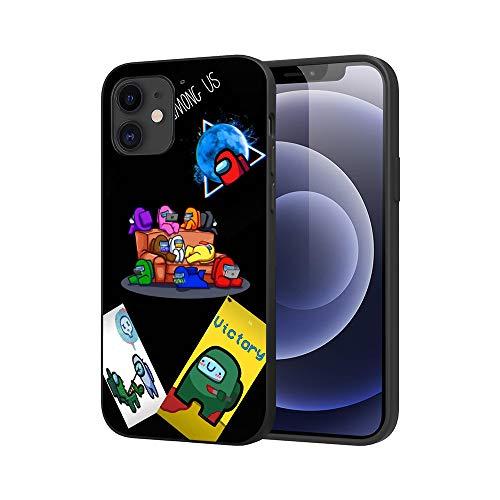JDSWAN Among us Impreso Teléfono Caso Funda para Apple iPhone XR Suave Silicona TPU Phone Case Cover Anti-rasguños Funda Carcasa de Telefono
