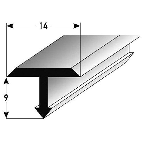 **TOPSELLER** T-Profil für Übergänge, Montageprofil / Bauprofil, 14 x 9 mm, aus Aluminium, Silber