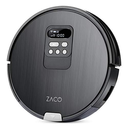 ZACO V85 Saugroboter mit Wischfunktion, App & Alexa Steuerung, 8cm flach, automatischer Staubsauger Roboter, 2in1 Wischen oder Staubsaugen, für Hartböden, Fallschutz, mit Ladestation - 12