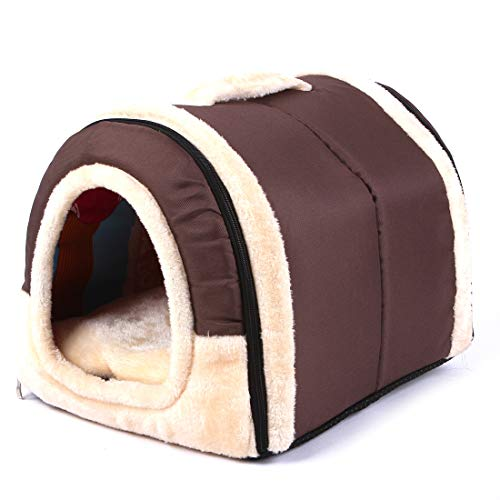 Solid Cave Shape Pet House Beds for Cats and Small Dogs-Waterproof and Skid-Free Base 23.6217.7217.72 Inches