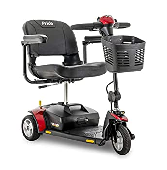 Go-Go Elite Traveller Mobility Scooter by Pride 3-Wheel - Red & Blue