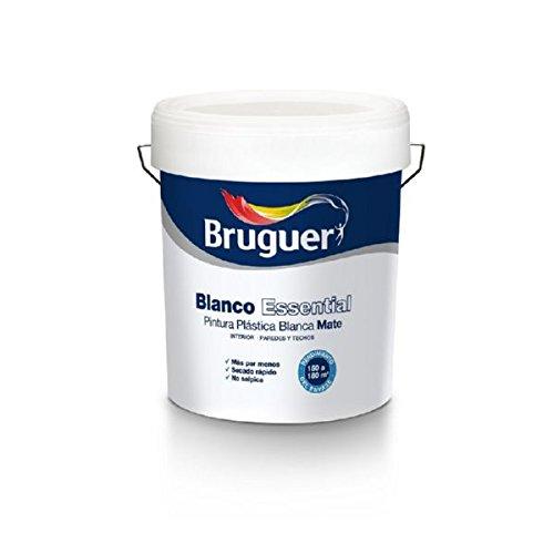 BRUGUER ESSENTIAL 15L PINTURA PLASTICA BLANCA MATE INTERIOR PAREDES Y TECHOS