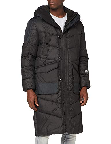 G-STAR RAW Mens Utility Quilted HDD extra Long Parka, dk Black B958-6484, X-Large
