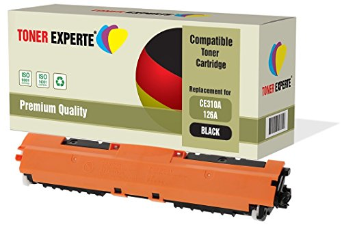 TONER EXPERTE® Schwarz Premium Toner kompatibel zu HP 126A CE310A für HP Colour Laserjet CP1025 CP1025nw CP1020 M175a M175nw Pro 100 M175 MFP M175a M175nw M275 TopShot M275