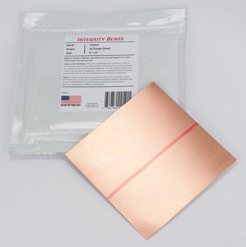 Copper 18 Gauge Sheet - 6' x 6'