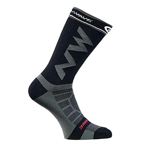 Liadance Sportsocken, Outdoor Radsport Socken für Männer, Laufsocken, Breathable Bikes Socken, Sportzubehör, 1 Paar, schwarz