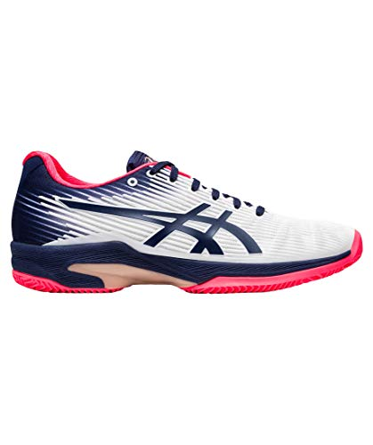 ASICS Solution Speed FF Clay, Scarpe da Ginnastica Donna, Bianco/Peacoat, 39 EU