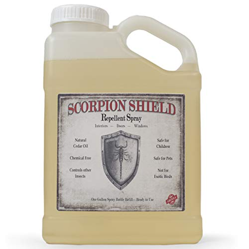 Cedarcide Scorpion Shield (Gallon) Indoor Natural Cedar Oil Pest Control Spray - Kills & Repels Scorpions and Other Pests Guaranteed - All Natural - Pet Safe