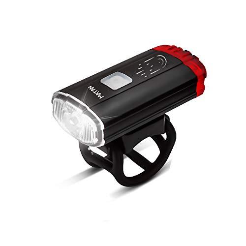 Matan Helmlampe 2 in 1 LED Fahrradlicht Aluminium USB wiederaufladbar universell Fahrrad