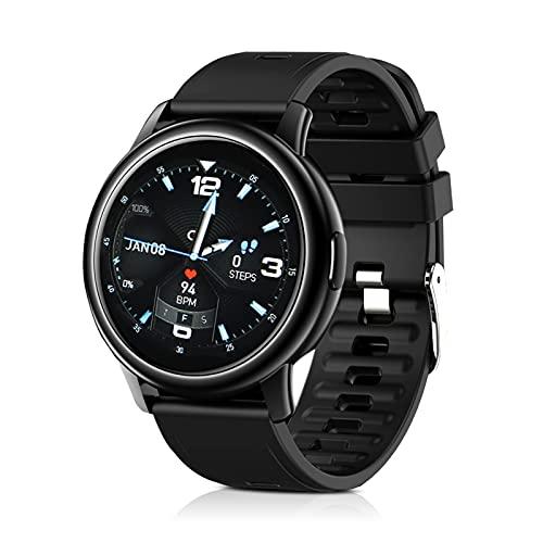 FeiyanfyQ S27 Smart Watch 1.3 pulgadas Full Touch IP68 Impermeable Fitness Smartwatch Frecuencia Cardíaca Sueño Presión Arterial Monitor de Oxígeno Reloj para Hombres Mujeres