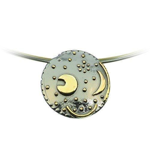 Himmelsscheibe von Nebra, Ø 18mm Anhänger 925/- Silber, Sternenschmuck